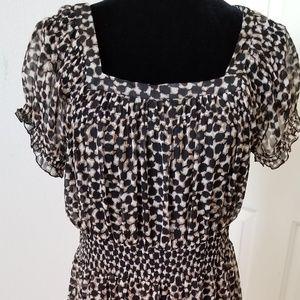 Merona Leopard Print Rockabilly Dress Size Large